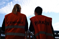 Stewards im Parken Stadion in Kopenhagen