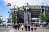 Zu Gast bei Bröndby IF im Bröndby-Stadion in Kopenhagen