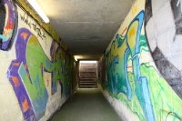 Spielertunnel des Stadion De Koel in Venlo