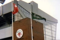An der Anfield Road des FC Liverpool - April 1993