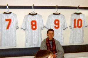 Umkleidekabine im alten Wembleystadion