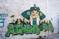 Graffiti am Apostolos-Nikolaidis-Stadion