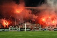 Fankurve von PAOK Thessaloniki im Toumba Stadion
