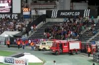 Fans von Panionios Athen bei PAOK Saloniki