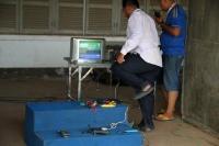 technische Vorbereitungen für das nächste Fußballspiel