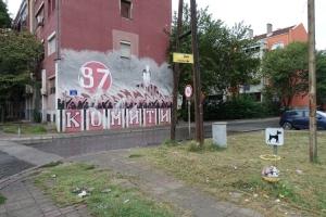 Graffiti der Ultras Komiti 1987