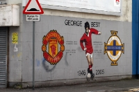 Mural für George Best (Man United) in Belfast