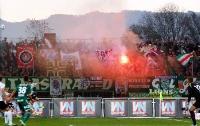 SK Rapid Fans zünden Pyrotechnik in Altach
