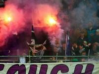 Pyrotechnik bei Austria Salzburg vs. FC Hard 1922