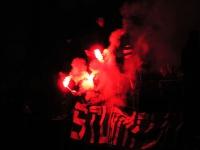 Pyrotechnik beim Pokalspiel Austria Salzburg vs. Sturm Graz