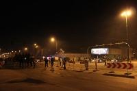 Nach dem Spiel Lech Poznan - Korona Kielce am Stadion Miejski