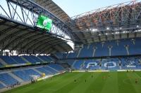 Stadion Miejski vor dem Heimspiel Warta Poznan - GKS Katowice (zweite polnische Liga)