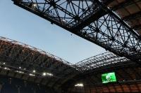 Stadiondach des Stadion Miejski in Poznan (Posen), polnisches EM-Stadion für 2012