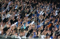 Fans von Lech Poznan im Stadion Miejski