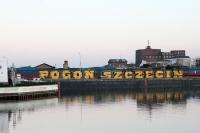 Pogon Szczecin Graffiti am Hafen