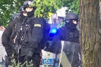 Polizeiliche Einsatzkräfte in Polen