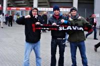 Fans von Slavia Prag in bester Laune