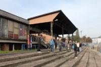 alte Holztribüne des Mestsky Stadions in Usti nad Labem
