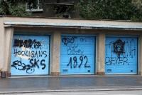 Graffiti im Stadtteil Praha 10