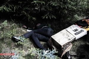 Maibaumfällen am Grenzübergang Na Celnice