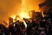 Pyrotechnik beim FC Viktoria Plzen