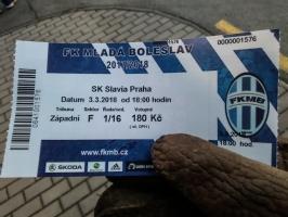 Eintrittskarte von Mlada Boleslav