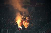 Feuer und dicke Luft im Block von Sparta Praha