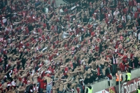 großartige Stimmung im Fanblock des SK Savia Praha