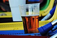 Tschechisches Bier im Stadion Prosek