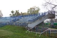 Gästebereich im Stadion von Olimpia
