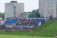 Gästeblock im Stadion von Polonia Bytom