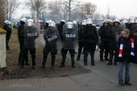 Polizei schirmt Gwardia in Slupsk ab