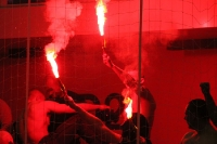 Pyrotechnik beim Hallenturnier in Potsdam