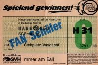 Eintrittskarte Hannover 96 gegen SC Freiburg