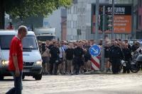 Hannover Fans auf dem Weg zum Ruhrstadion 2016