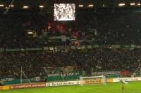 Pyroshow der H96-Fans beim Pokalspiel gegen Dynamo Dresden