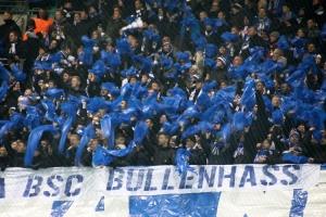 Hertha-Fans in Leipzig