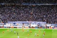 Fankurve der Hertha-Fans im Olympiastadion