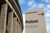 Polizei-Dienststelle im Berliner Olympiastadion