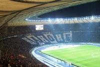 Choreographie der Hertha-Fans in der Ostkurve