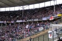 Fans des FC Erzgebirge Aue im Berliner Olympiastadion bei Hertha BSC