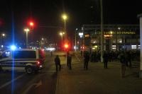 Hertha BSC auf dem Weg zum Stadion der Freundschaft