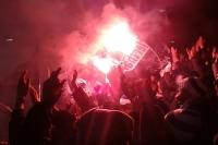 Hertha BSC Fans zünden Pyrotechnik in Braunschweig