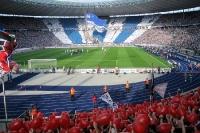 Choreographie der Hertha-Fans in der Ostkurve beim Spiel gegen den 1. FC Nürnberg, 2011/12