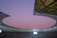 Berliner Olympiastadion im Abendlicht