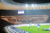 Ostkurve von Hertha BSC beim Berliner Derby