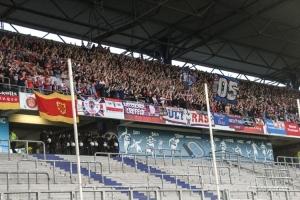 KFC Fans in Duisburg Oberrang gegen Mannheim