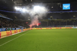 KFC Fans Pyroshow in Duisburg 04-11-2019
