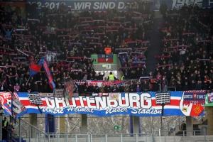 KFC Fans Support gegen Rostock
