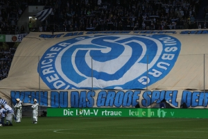 Choreo MSV Fans vor dem Spiel gegen Heidenheim 12-05-2019